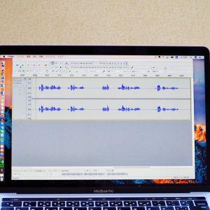 パソコンの音声編集ソフトの画面