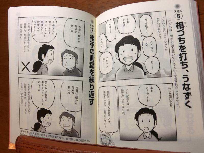 本のページ。「相づち」の説明