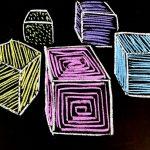 六面体(サイコロの形)のイラスト