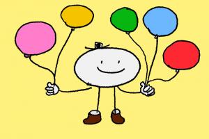 イラスト:選べる風船