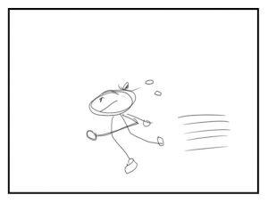 イラスト「走る人」