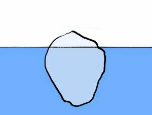 イラスト「氷山」