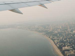 飛行機から見たムンバイ