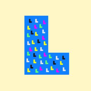 大きなLの中に小さなLが沢山あるイラスト