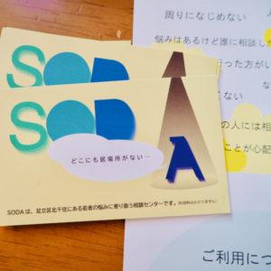 SODA案内カードの写真