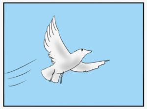 鳥が空を飛ぶイラスト