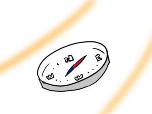 コンパス(方位磁針)のイラスト