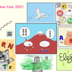 Happy New Yearの年賀状イラスト